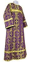 Altar server stikharion - metallic brocade B (violet-gold)