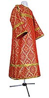Altar server stikharion - metallic brocade B (red-gold)