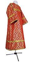 Altar server stikharion - metallic brocade B (red-gold)