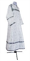 Altar server stikharion - metallic brocade B (white-silver)