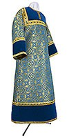 Altar server stikharion - metallic brocade BG1 (blue-gold)