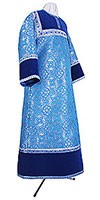 Altar server stikharion - metallic brocade BG1 (blue-silver)