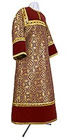 Altar server stikharion - metallic brocade BG2 (claret-gold)