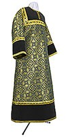 Altar server stikharion - metallic brocade BG1 (black-gold)