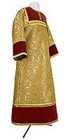 Altar server stikharion - metallic brocade BG1 (yellow-claret-gold)