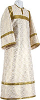 Altar server stikharion - metallic brocade BG1 (white-gold)
