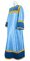 Altar server stikharion - metallic brocade BG6 (blue-gold)