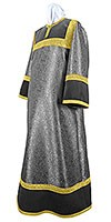 Altar server stikharion - metallic brocade BG4 (black-gold)