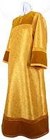 Altar server stikharion - metallic brocade BG2 (yellow-claret-gold)