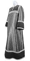 Altar server stikharion - metallic brocade BG6 (black-silver)