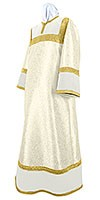 Altar server stikharion - metallic brocade BG4 (white-gold)