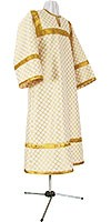 Altar server stikharion - rayon brocade S2 (white-gold)