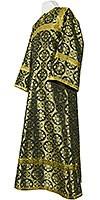 Altar server stikharion - rayon brocade S3 (black-gold)