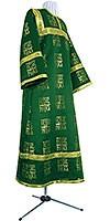 Altar server stikharion - rayon brocade S3 (green-gold)