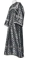 Altar server stikharion - rayon brocade S3 (black-silver)