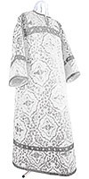 Altar server stikharion - rayon brocade S4 (white-silver)