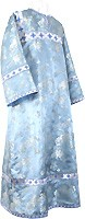 Altar server stikharion - Chinese rayon brocade (blue-silver)