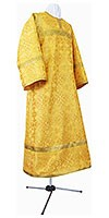 Child stikharion (alb) - metallic brocade B (yellow-claret-gold)