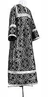 Child stikharion (alb) - metallic brocade BG2 (black-silver)