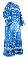 Child stikharion (alb) - rayon brocade S4 (blue-silver)