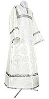Child stikharion (alb) - rayon brocade S4 (white-silver)