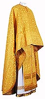Greek Priest vestment -  metallic brocade B (yellow-gold)