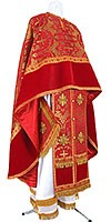 Greek Priest vestment -  metallic brocade B (red-gold)