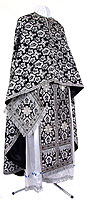 Greek Priest vestment -  metallic brocade B (black-silver)
