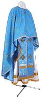 Greek Priest vestment -  metallic brocade BG1 (blue-gold)
