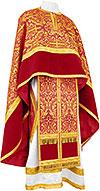 Greek Priest vestment -  metallic brocade BG1 (claret-gold)