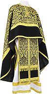 Greek Priest vestment -  metallic brocade BG1 (black-gold)