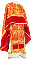 Greek Priest vestment -  metallic brocade BG1 (red-gold)