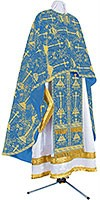 Greek Priest vestment -  metallic brocade BG2 (blue-gold)
