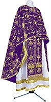 Greek Priest vestment -  metallic brocade BG2 (violet-gold)