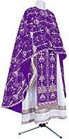 Greek Priest vestment -  metallic brocade BG2 (violet-silver)