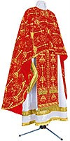 Greek Priest vestment -  metallic brocade BG2 (red-gold)
