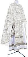 Greek Priest vestment -  metallic brocade BG2 (white-silver)