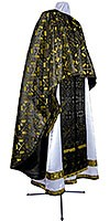 Greek Priest vestment -  metallic brocade BG3 (black-gold)