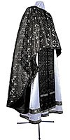 Greek Priest vestment -  metallic brocade BG3 (black-silver)