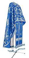 Greek Priest vestment -  metallic brocade BG4 (blue-silver)