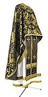 Greek Priest vestment -  metallic brocade BG4 (black-gold)