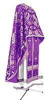 Greek Priest vestment -  metallic brocade BG4 (violet-silver)
