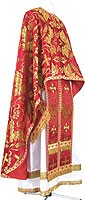 Greek Priest vestment -  metallic brocade BG4 (red-gold)