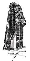Greek Priest vestment -  metallic brocade BG4 (black-silver)