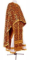 Greek Priest vestment -  rayon brocade S2 (claret-gold)