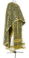 Greek Priest vestment -  rayon brocade S2 (black-gold)