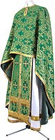Greek Priest vestment -  rayon brocade S2 (green-gold)