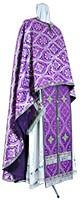 Greek Priest vestment -  rayon brocade S2 (violet-silver)