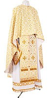 Greek Priest vestment -  rayon brocade S2 (white-gold)