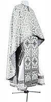 Greek Priest vestment -  rayon brocade S2 (white-silver)